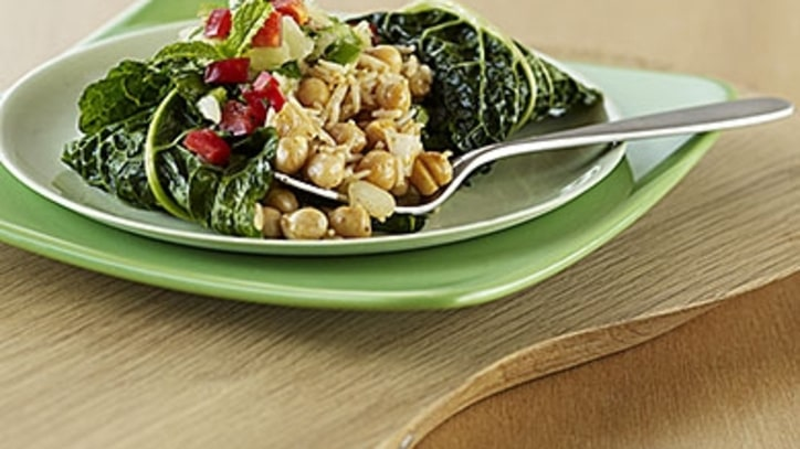A Healthier Dinner: Braised Chickpeas with Tofu and Kale