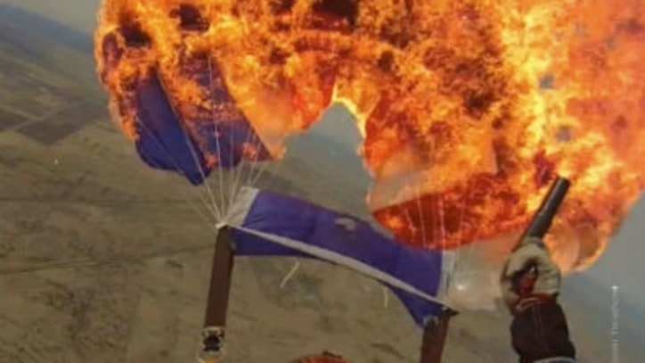 A Skydive Instructor Set Her Parachute on Fire to Prove a Point