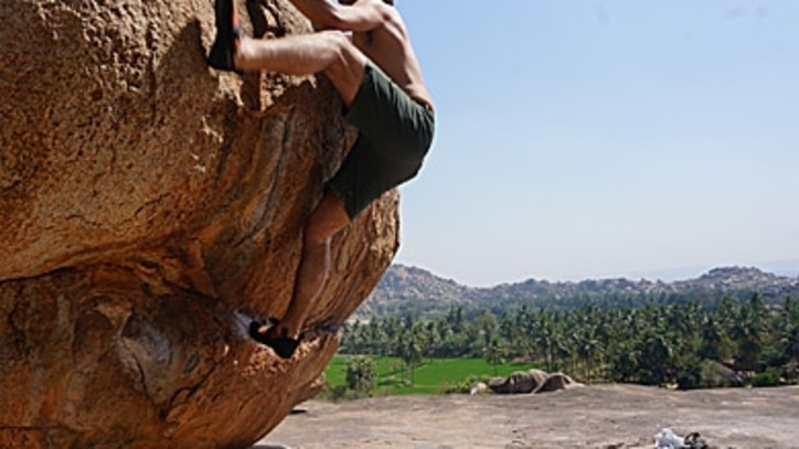 Bouldering Among Ruins and Sadhus in South India