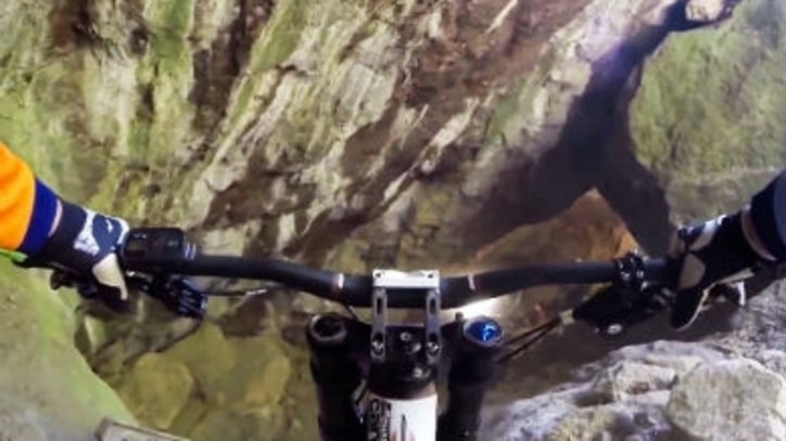 Watch Mountain Bikers Tear Through an Abandoned Mine