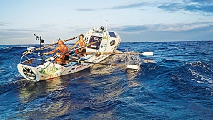 Married Couple Sets Record Rowing the Pacific