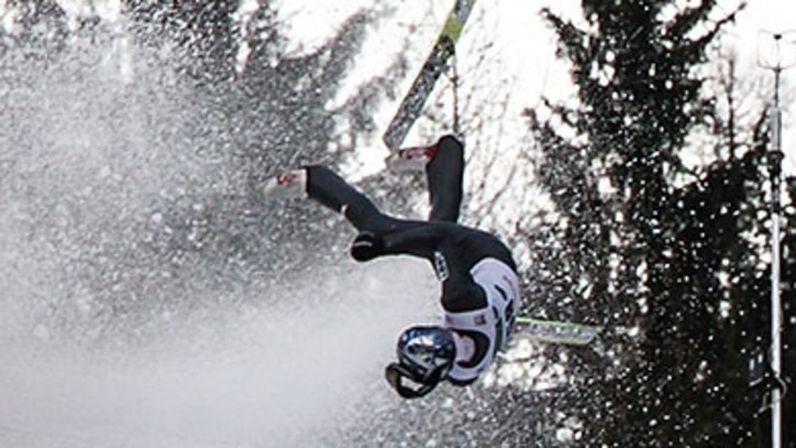 Ski Jumper Re-creates 'The Agony Of Defeat'