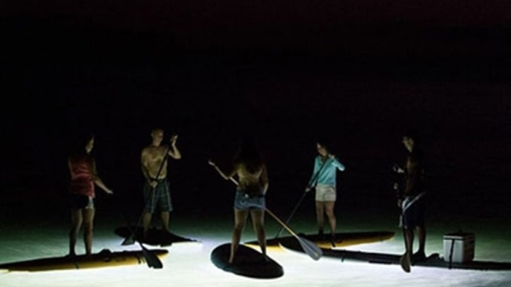 Paddleboarding the Keys at Night