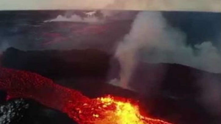 Drone Captures a Volcanic Eruption From Above