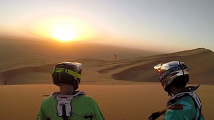 Watch Mountain Bikers Carve Namibia's Stunning Dunes