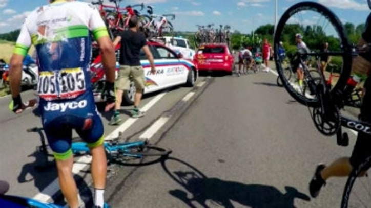 Watch What Happens in the Aftermath of a Huge Tour de France Crash