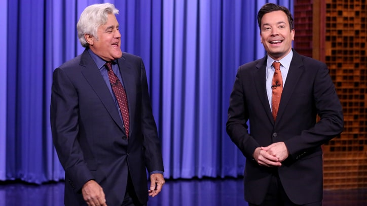 Jay Leno Returns to 'Tonight Show' to Deliver Barbed Monologue
