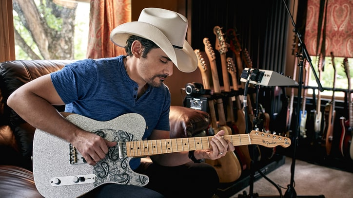 Brad Paisley Talks New Signature Guitar, Previews Netflix Comedy Special
