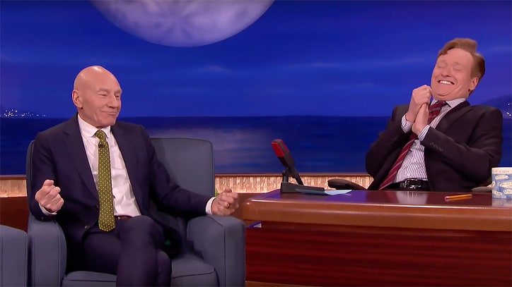 Watch Sir Patrick Stewart on Playing Poop: It Involved 'A Lot of Research'