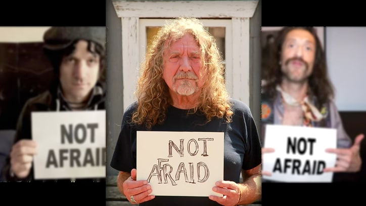 Keith Richards, Robert Plant Declare 'We Are Not Afraid' in Refugee Aid Video