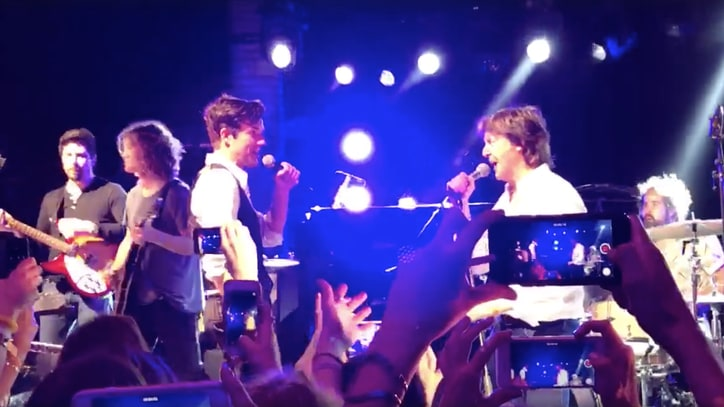 See Paul McCartney Join Killers for 'Helter Skelter' at New Year's Bash