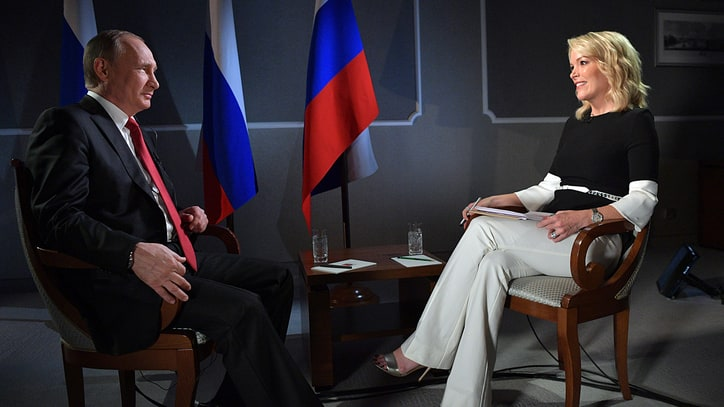 Megyn Kelly Criticized for Vladimir Putin Interview as He Denies Hacking