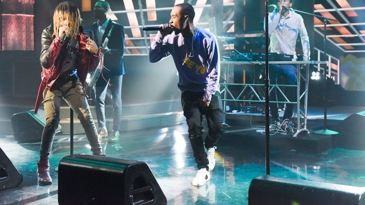 Rae Sremmurd Bring 'Black Beatles' to 'Colbert' on Beatles Anniversary