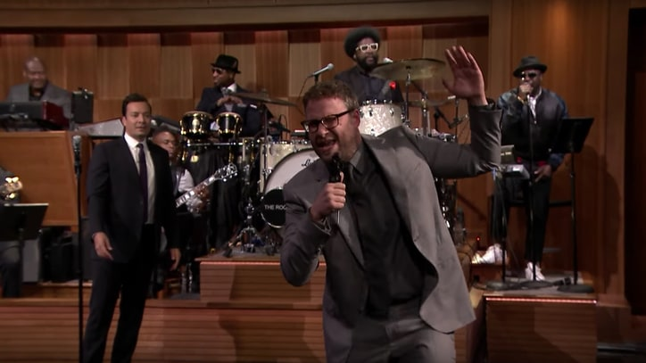 Watch Seth Rogen, Jimmy Fallon Face Off in 'Lip Sync Battle'