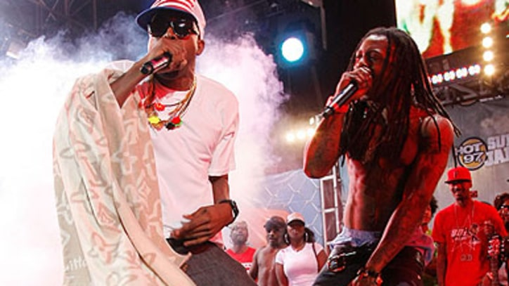 Kanye West and Lil Wayne Work on Mystery Project