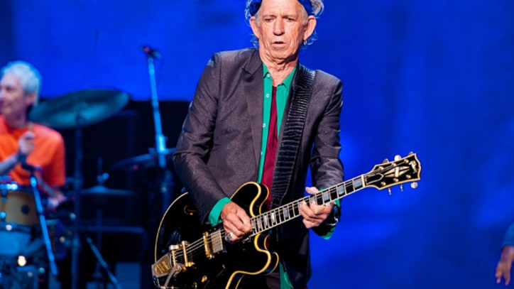 Keith Richards Nervous About Weather for Glastonbury