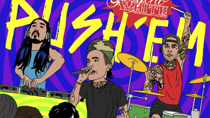 Travis Barker and Yelawolf Get an EDM Overhaul in 'Push Em' (Steve Aoki and Travis Barker Remix) - Song Premiere