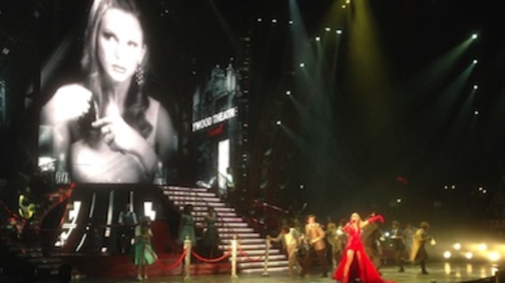 Taylor Swift Duets With Sara Bareilles, Cher Lloyd at L.A. Opening