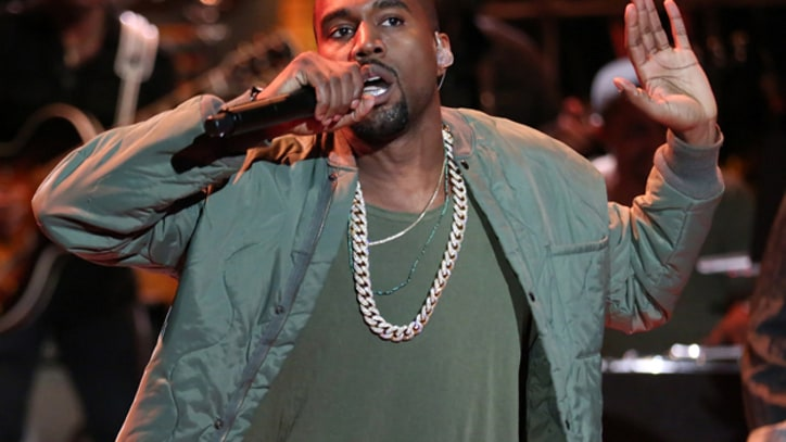 Kanye West Surprises at Pusha T Party, Rants Against Corporations