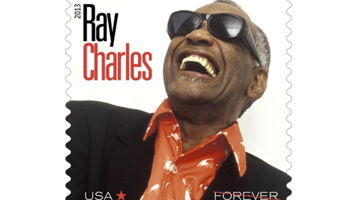 Ray Charles Honored on U.S. Postage Stamp