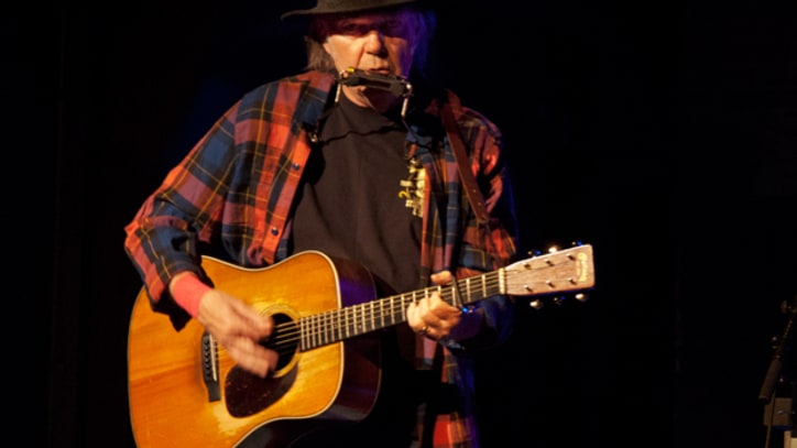Neil Young, Elvis Impersonator Play Intimate New York Benefit Gig