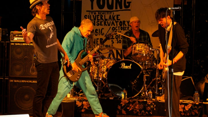 Red Hot Chili Peppers, Neil Young Join Forces for Backyard Benefit