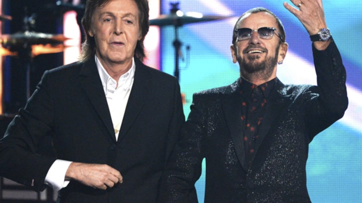 Paul McCartney and Ringo Starr Share Grammy Stage for Rare Performance