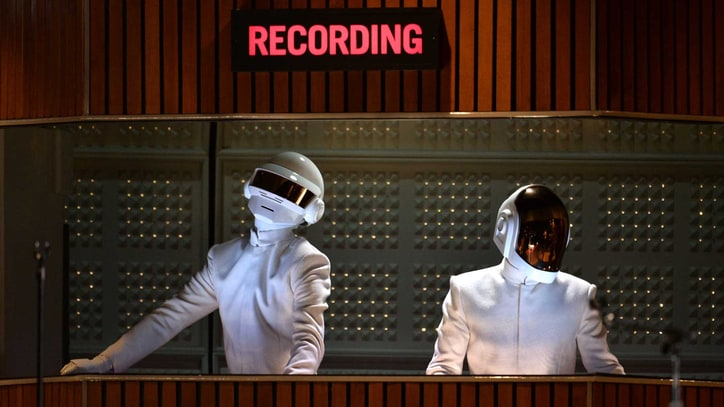 Daft Punk and Stevie Wonder Lead Funky Disco Smash-Up at Grammys