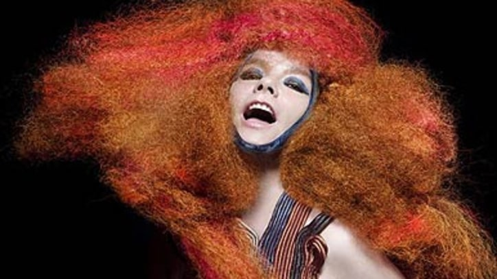 Designers threeASFOUR Dress Bjork In Shades of Alchemy