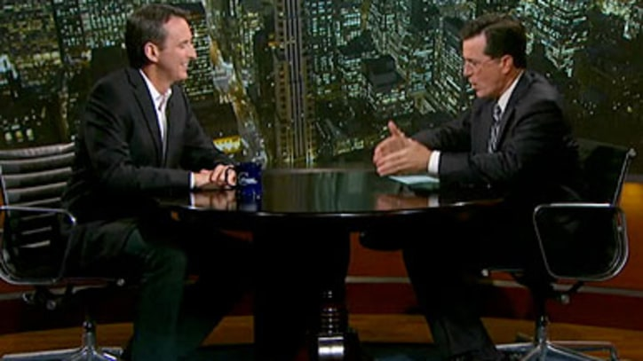 Tim Pawlenty Kicks Back on the Colbert Report