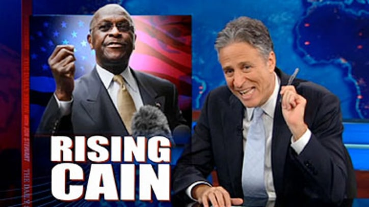 Jon Stewart on Herman Cain: 'I Don't Have Facts to Back This Up ...'