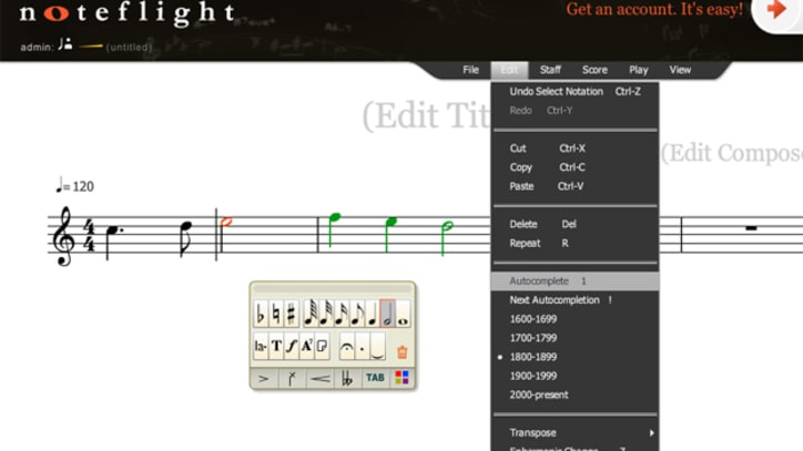 Noteflight's New Autocomplete Features Finish Your Compositions For You