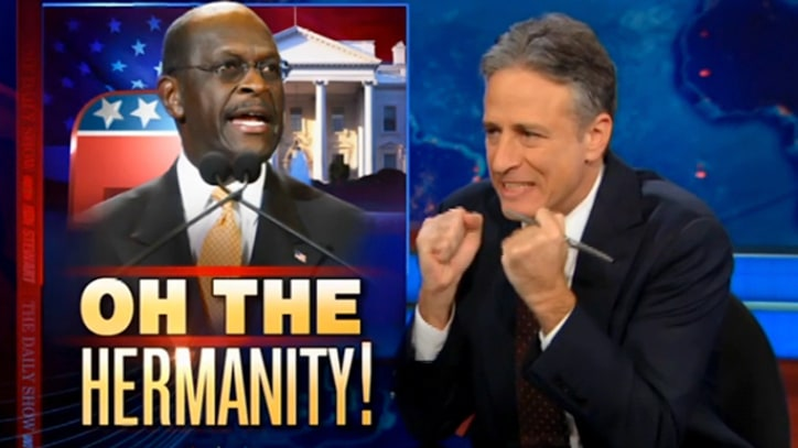 Jon Stewart Bids Herman Cain a Very Pokemon Farewell