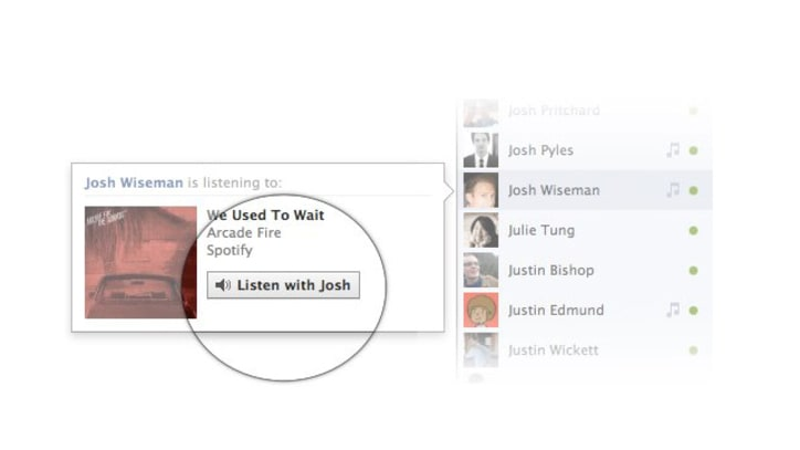 "Facebook Launches ""Listen With"" Social Song Feature"