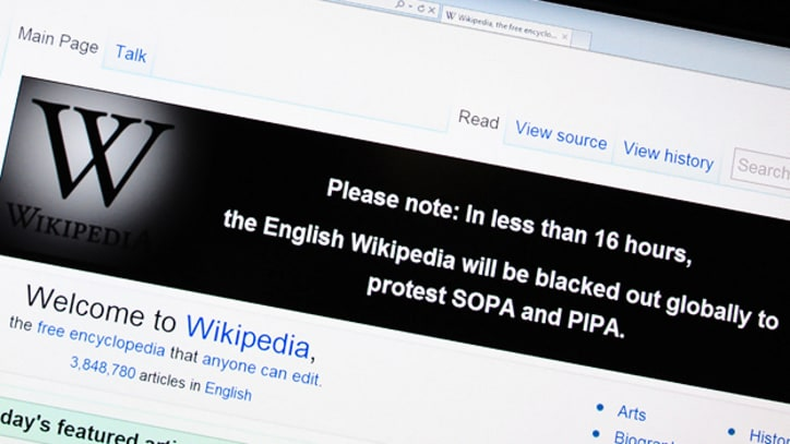 Wikipedia to Shut Down Temporarily to Protest Online Anti-Piracy Legislation