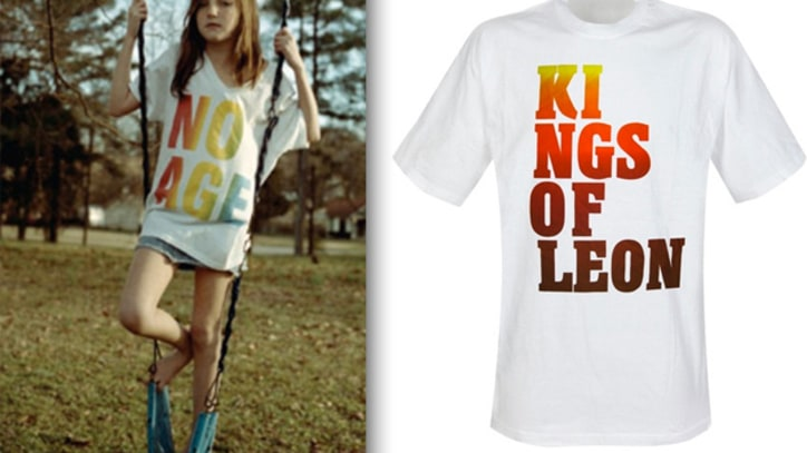 No Age Accuse Kings of Leon of Copying T-Shirt Design