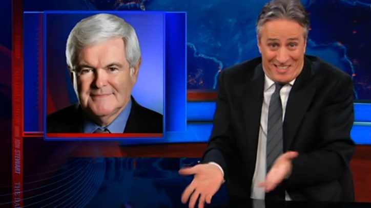 Jon Stewart on the Gingrich Surge