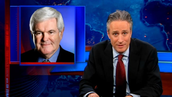 Jon Stewart on Mitt and Newt's 'Pander Express'