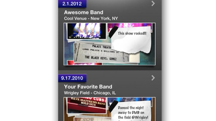 StagePage Creates Virtual Concert Scrapbook