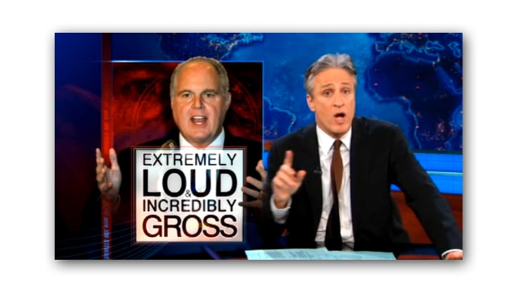 Jon Stewart on the Limbaugh-Fluke Controversy
