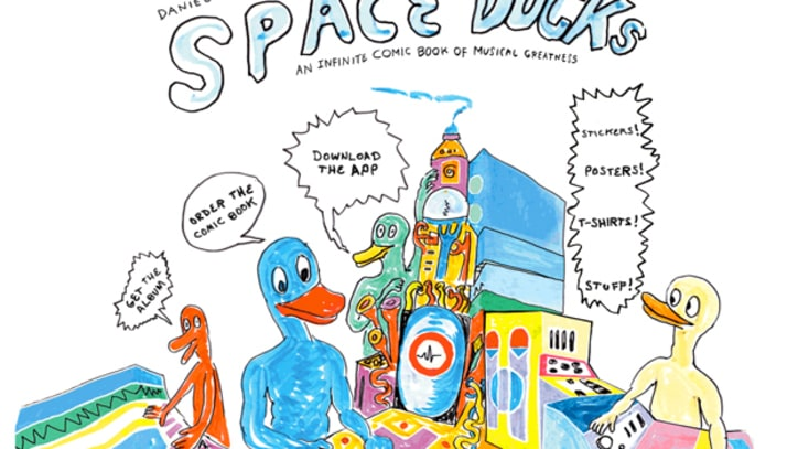 Daniel Johnston Releases 'Space Ducks' iPad Game