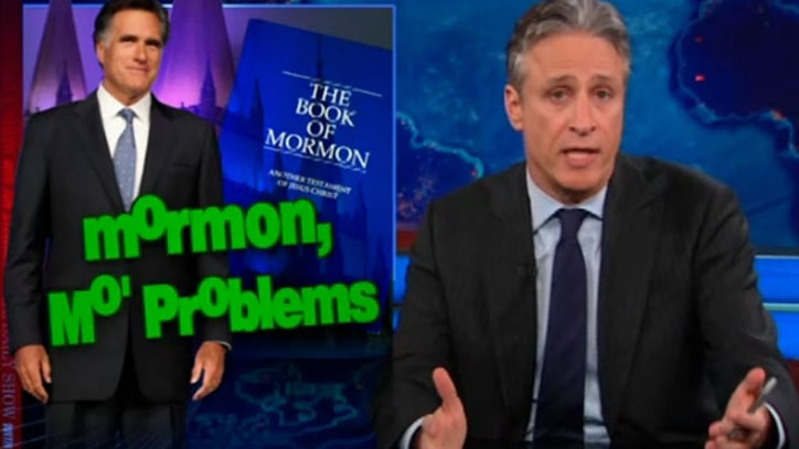 Jon Stewart on Mitt Romney's Mormon 'Problems'