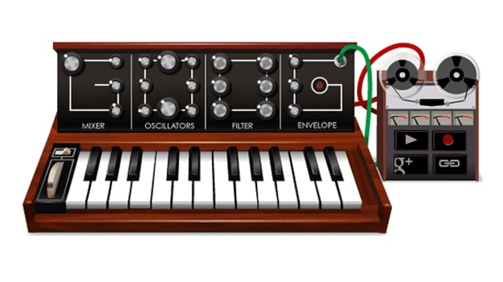 Google Doodle Synthesizer Pays Tribute to Bob Moog