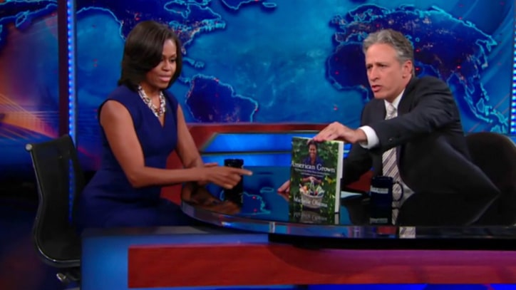 Jon Stewart to Michelle Obama: Is it Hard to Raise a Kid Around Biden?