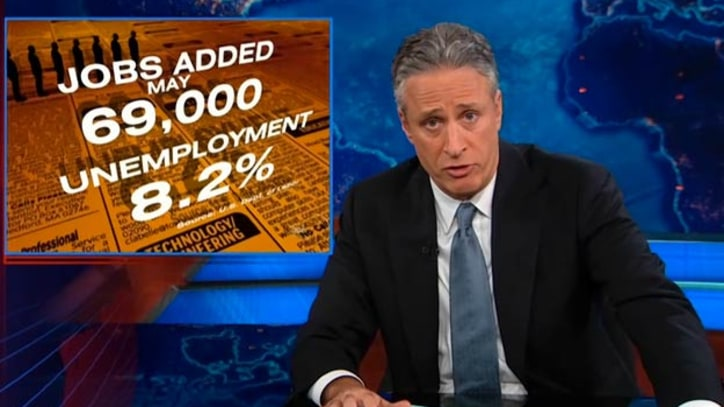 Jon Stewart: How Democrats Spin the Jobs 'Turd Into Something Positive'