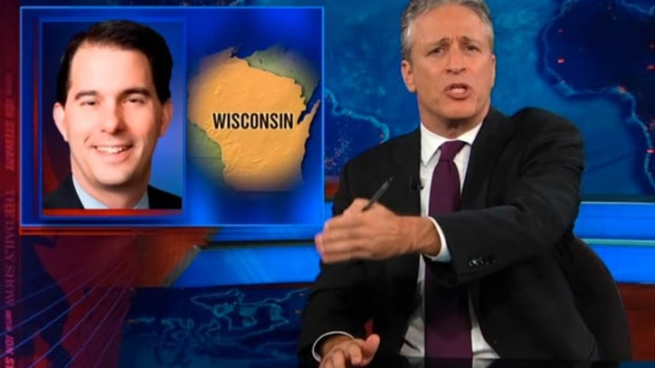 Jon Stewart: Scott Walker Supporters Feared Victory by the 'Monterey Jack-Booted Thugs'
