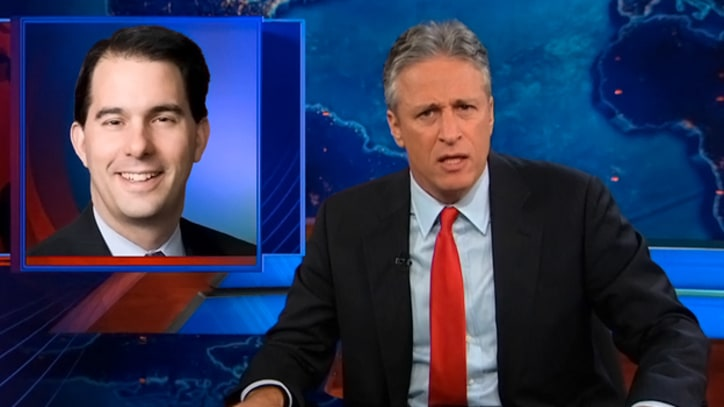 Jon Stewart: Wisconsin Actually Likes 'the Tyrant-y, Union-Cutting Guy'