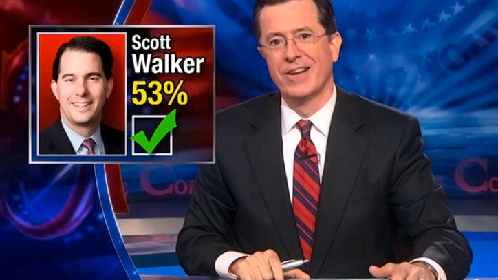 Colbert: 'We Did It! It's the End of Unions!'