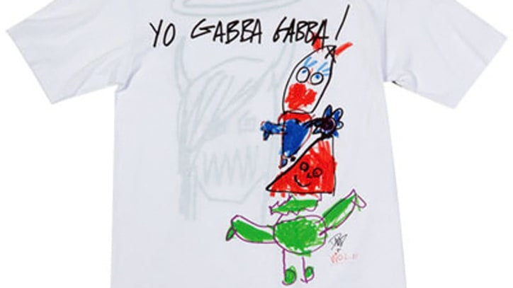 Dave Grohl and Daughter Design T-Shirt for 'Yo Gabba Gabba!'