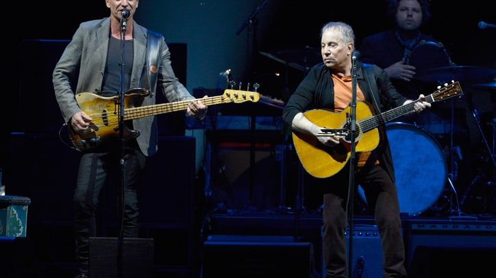 Paul Simon, Sting Stage 'Little Experiment' at Madison Square Garden